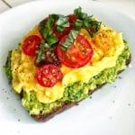 healthy breakfast on the go_pesto avo toast